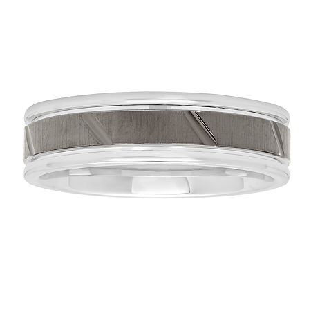 6MM Sterling Silver Wedding Band, 11 , No Color Family