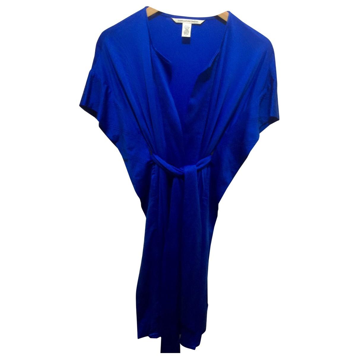 Diane Von Furstenberg \N Blue Silk dress for Women 4 US