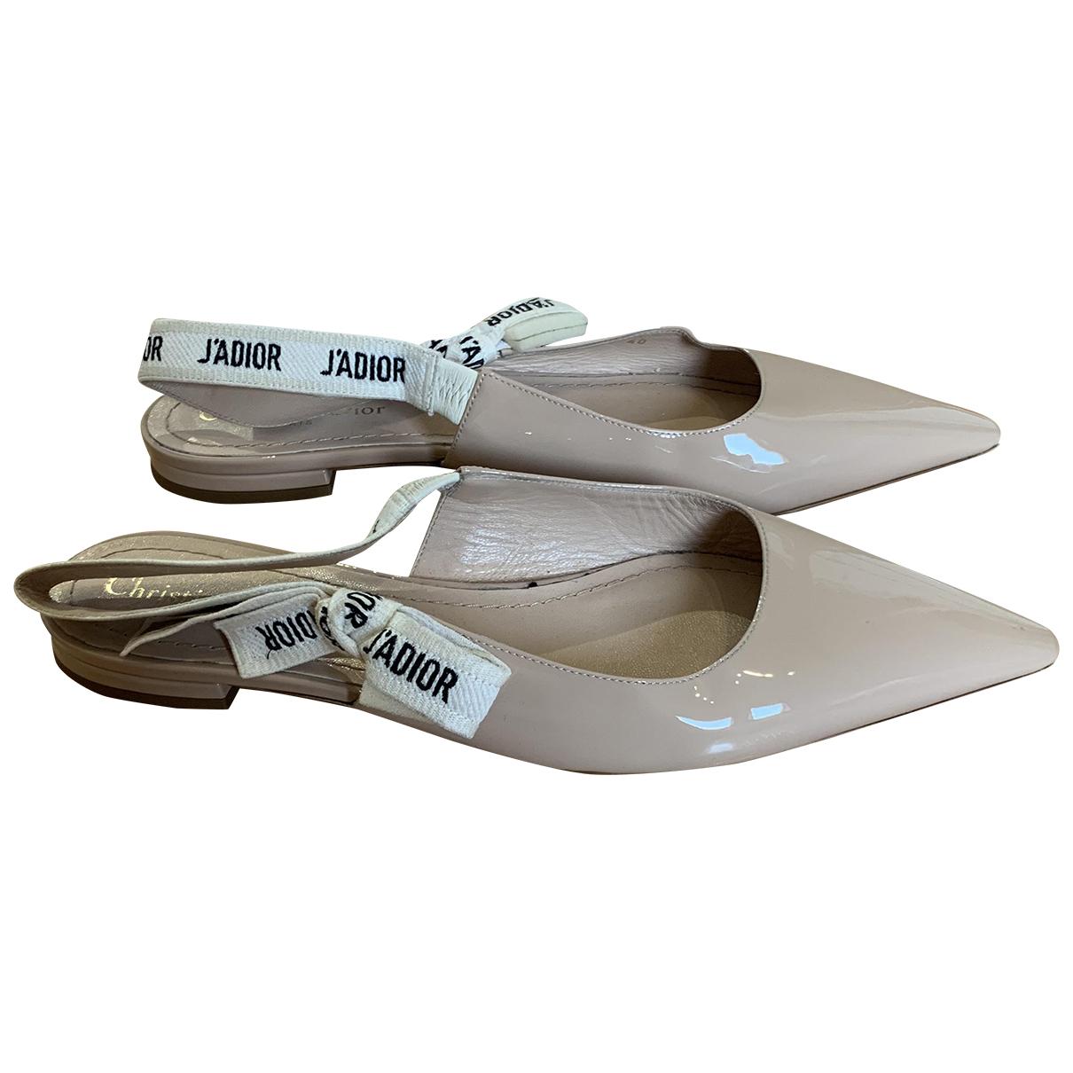 Dior J'adior Patent leather Ballet flats for Women 40 EU