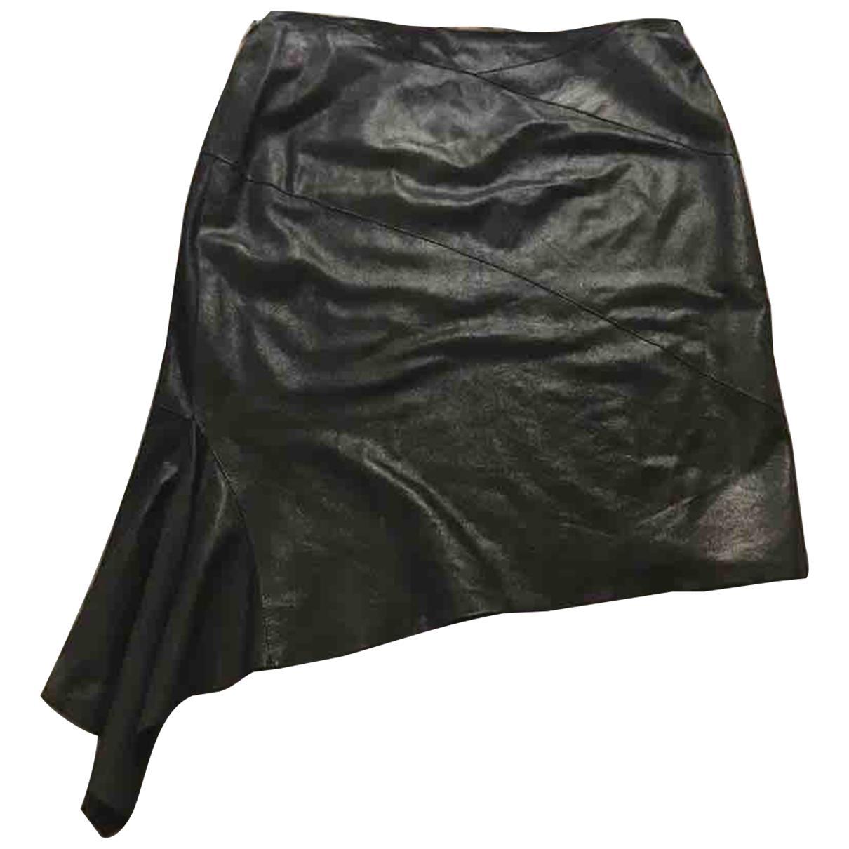 Roberto Cavalli \N Black Leather skirt for Women 40 IT