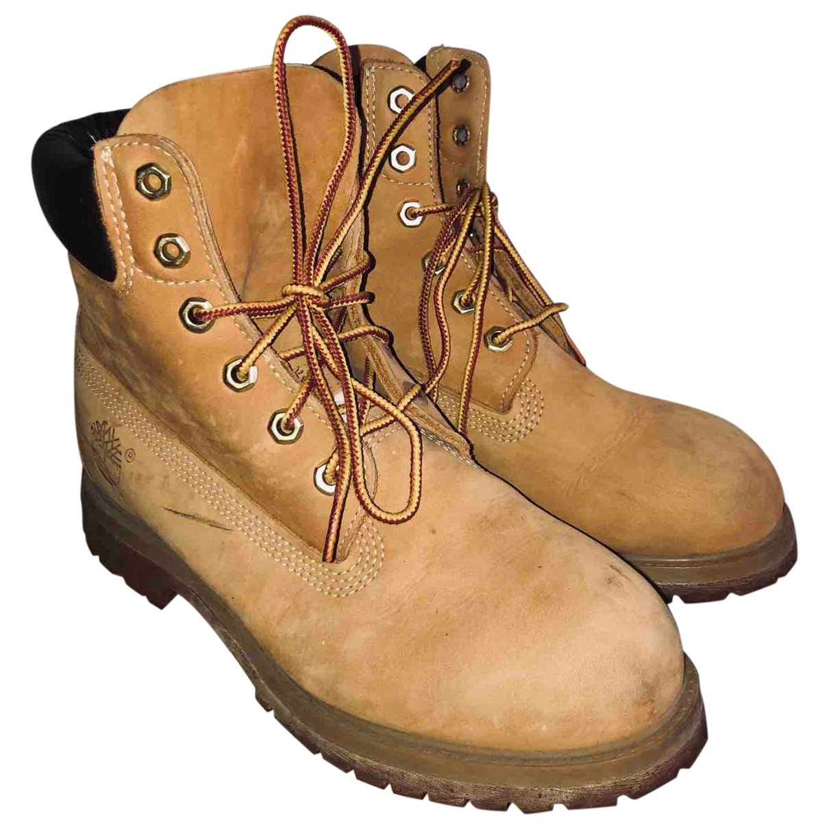 Timberland \N Camel Leather Boots for Women 38 EU