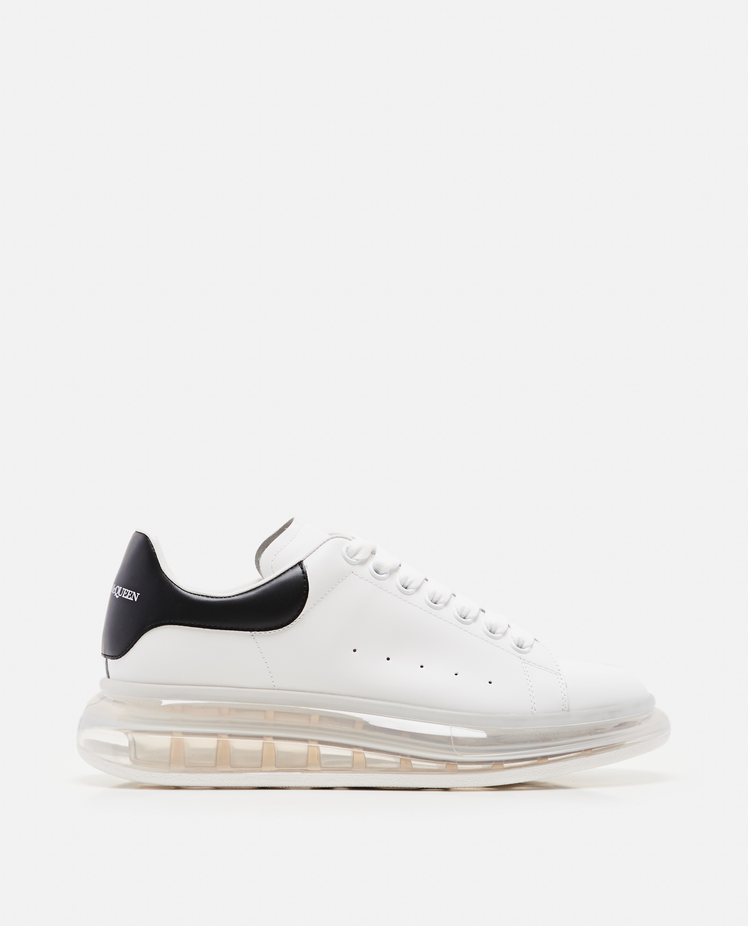 Oversized sneakers with transparent sole