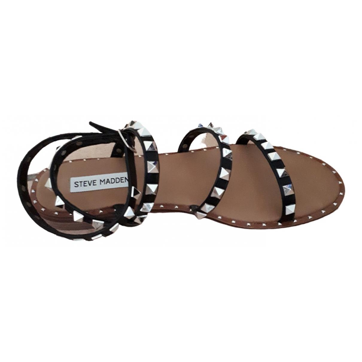 Steve Madden \N Black Rubber Sandals for Women 38 IT