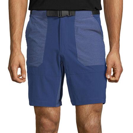 St. John's Bay Outdoor Mens Moisture Wicking Hybrid Short, 32 , Blue