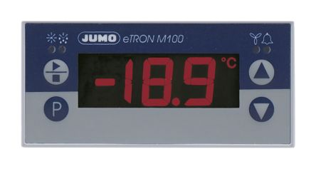 Jumo eTRON M100 On/Off Temperature Controller, 76 x 36mm, RTD Input, 12 → 24 V ac/dc Supply