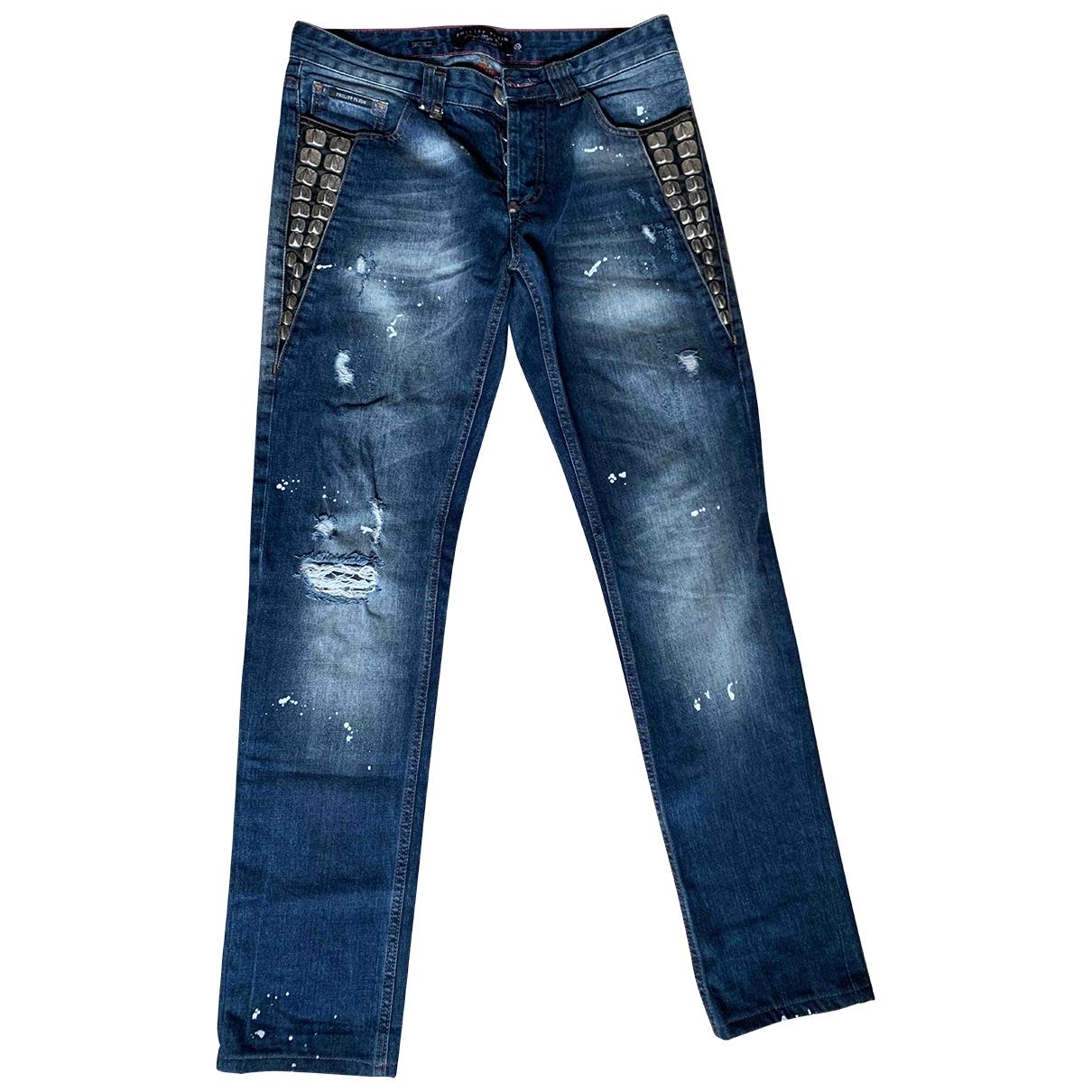 Philipp Plein \N Blue Cotton Jeans for Men 40 - 42 FR