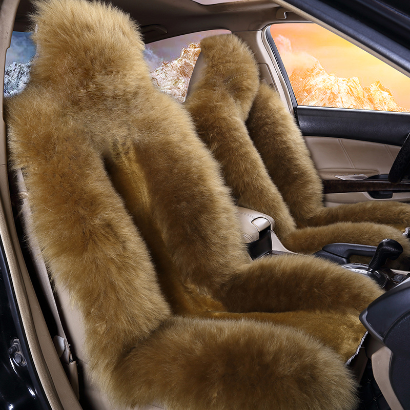 Warm Wool Hair Material Winter Pure Color Options Car Seat Covers