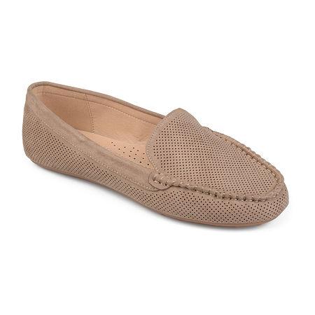 Journee Collection Womens Halsey Loafers, 6 1/2 Medium, Beige
