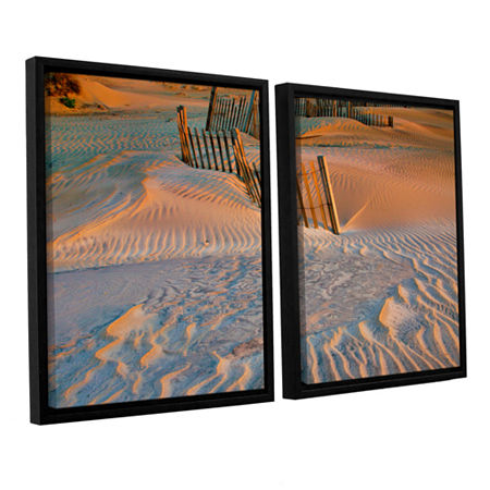 Brushstone Dune Patterns II 2-pc. Floater Framed Canvas Wall Art, One Size , White