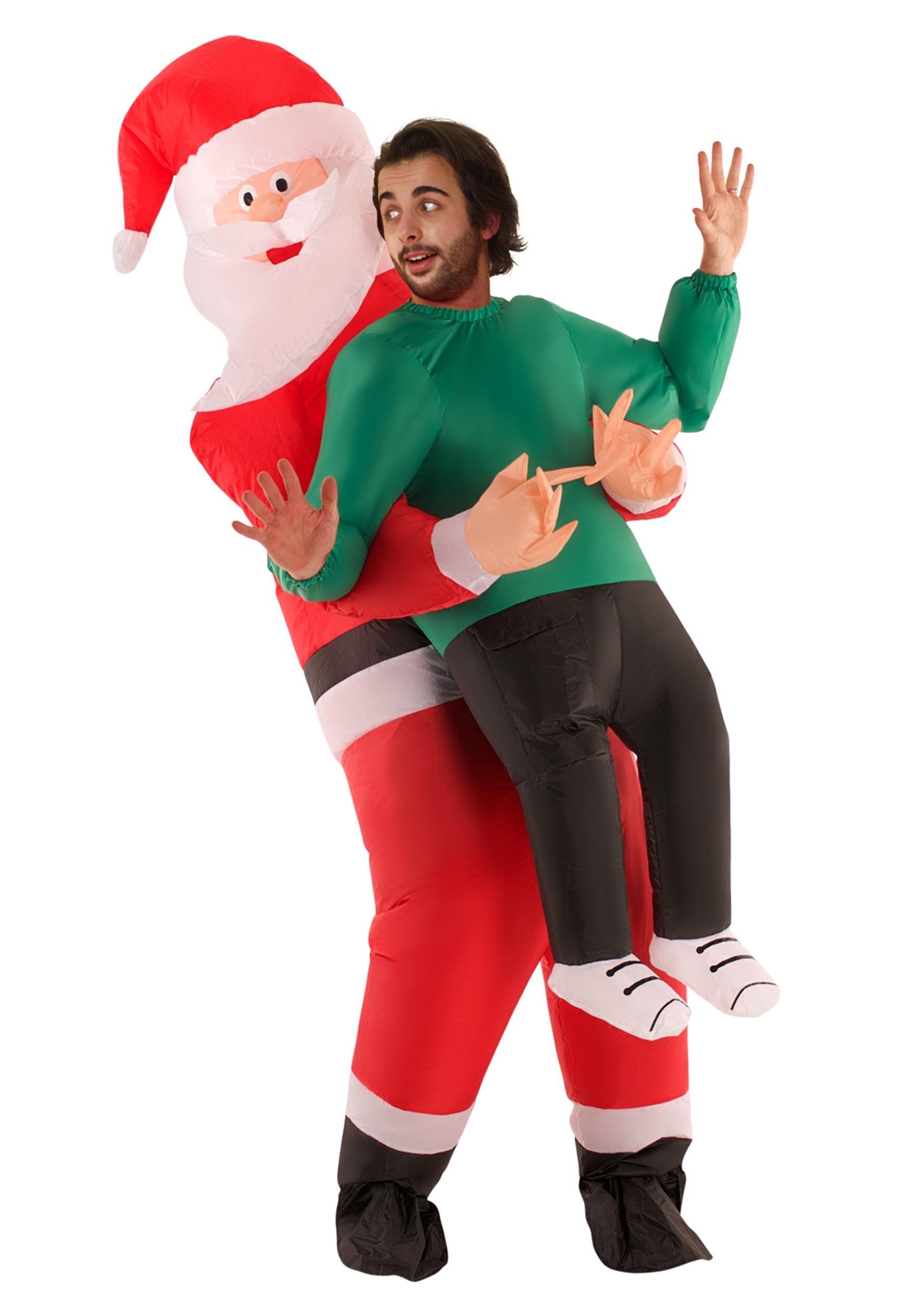 Inflatable Santa Pick Me Up Adult Costume