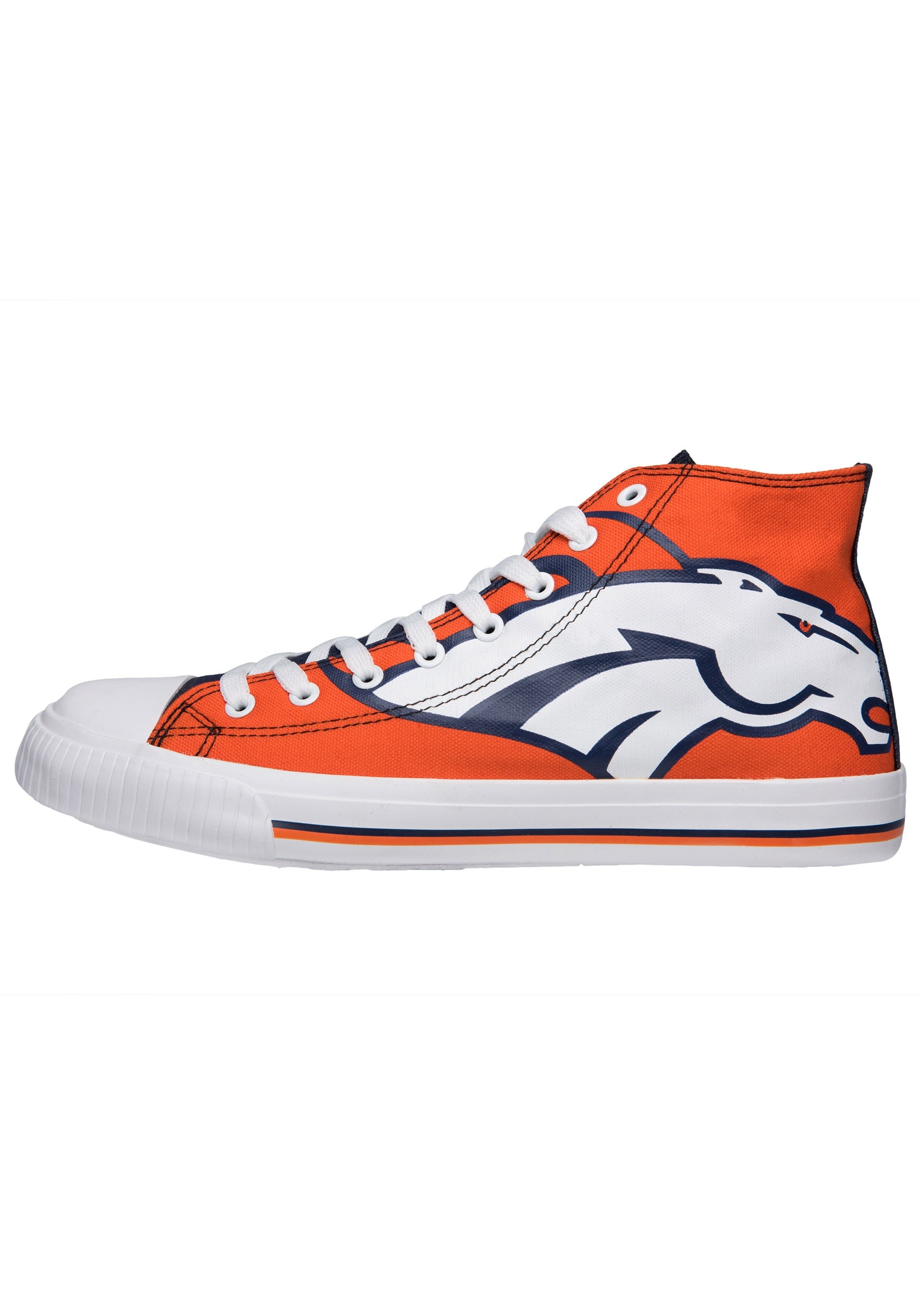 Denver Broncos High Top Big Logo Canvas Shoes for Men