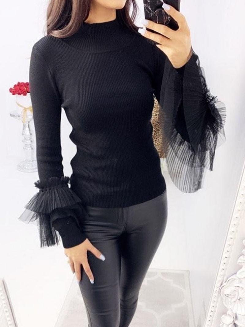 Ericdress Patchwork Regular Long Sleeve Women's Sweater