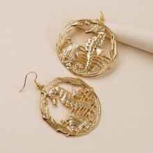 Seahorse Decor Drop Earrings
