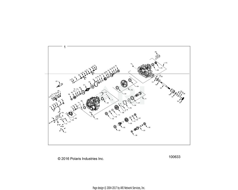 Polaris OEM 3236002 WELDMENT REAR MOUNT BRACKET