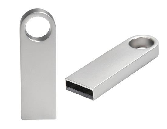 2GB Mini Metal USB Flash Drive - Silver