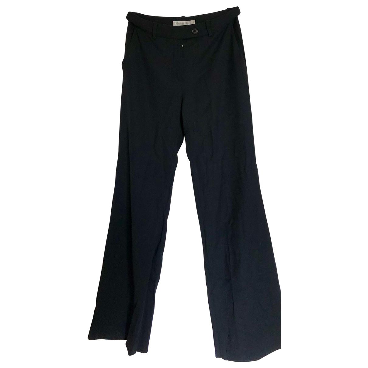 Dior \N Black Wool Trousers for Women 36 FR