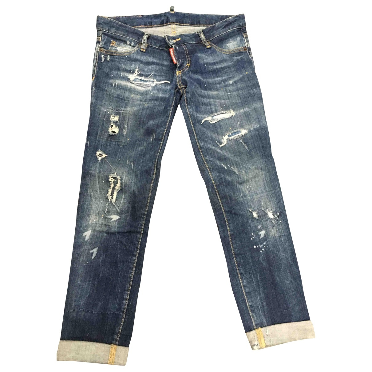 Dsquared2 \N Blue Cotton - elasthane Jeans for Women 38 FR
