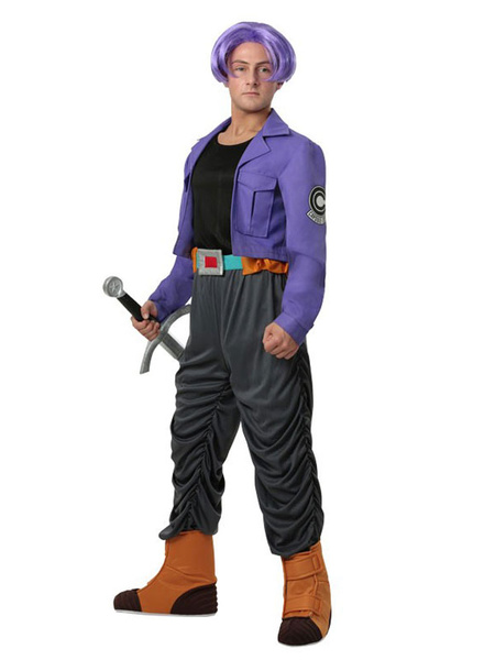 Milanoo Dragon Ball Z Trunks Halloween Cosplay Costume