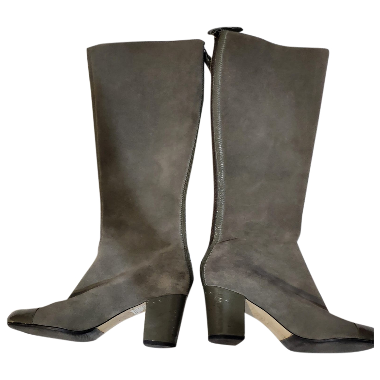 Steve Madden \N Grey Suede Boots for Women 40 EU