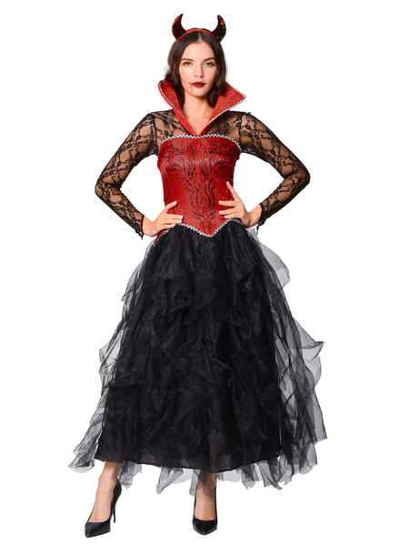 Milanoo Sexy Demon Costume For Women Halloween Holidays Costumes