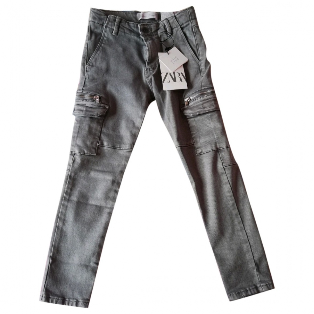 Zara \N Anthracite Cotton Trousers for Kids 6 years - up to 114cm FR