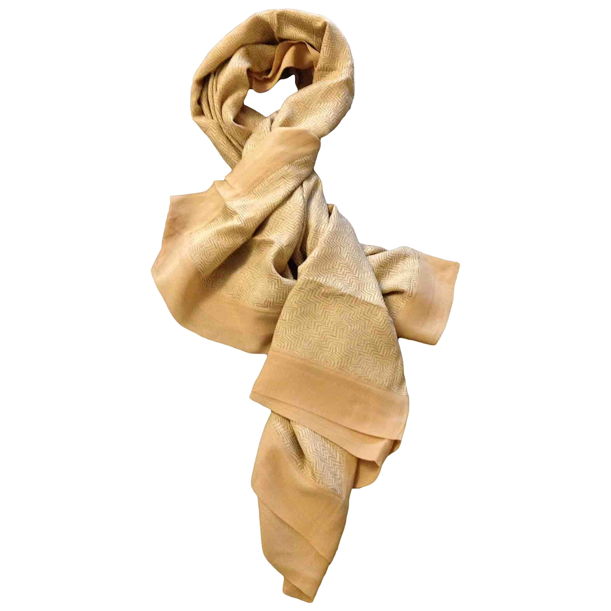 Giorgio Armani \N Gold Silk Silk handkerchief for Women \N