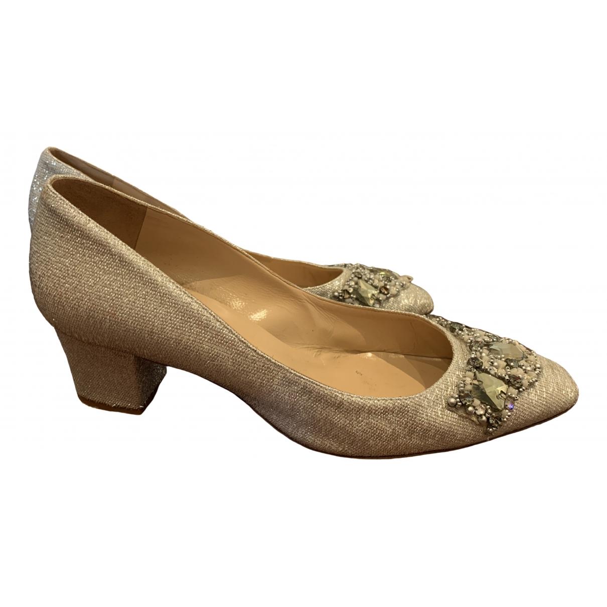 Oscar De La Renta \N Silver Glitter Heels for Women 40.5 EU