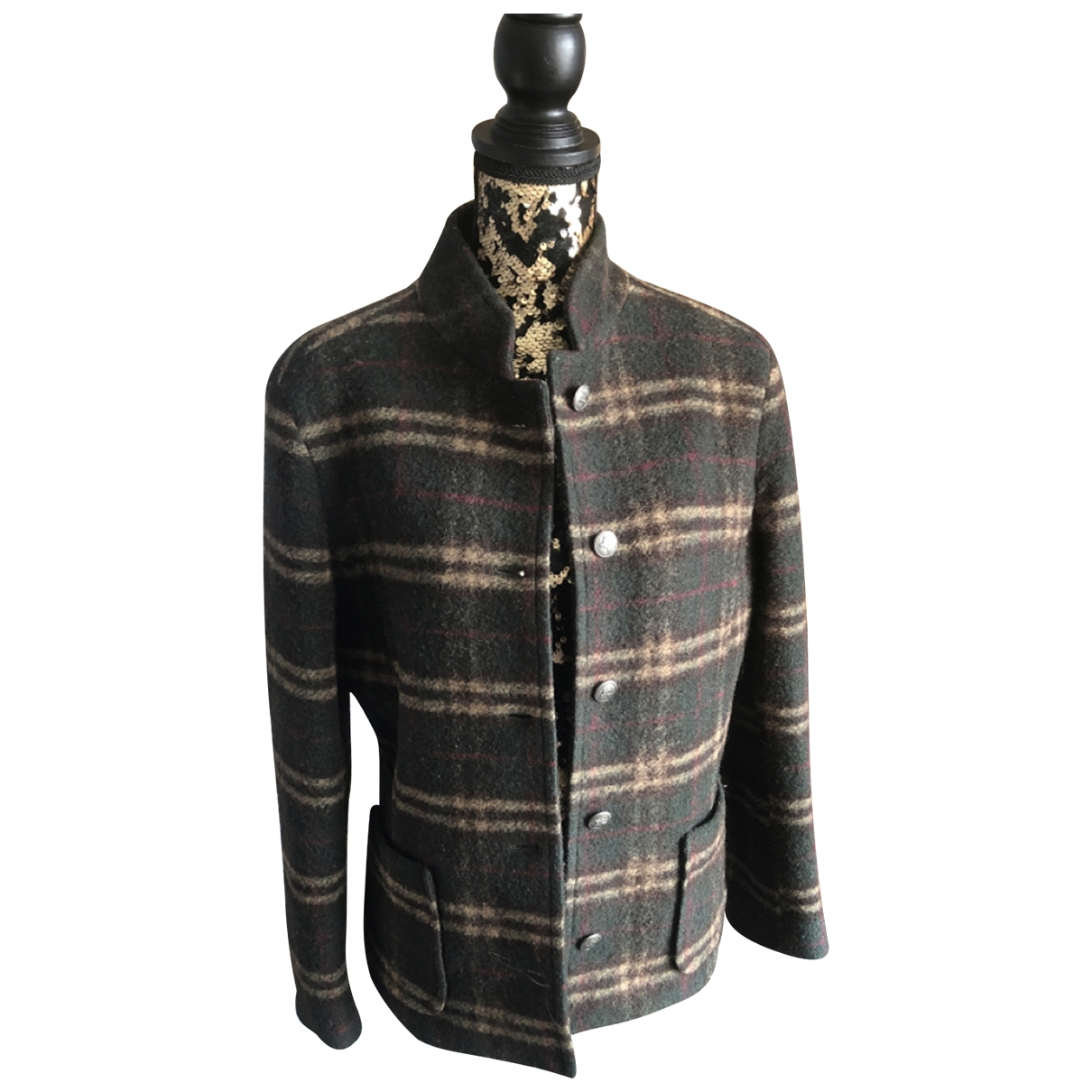 Burberry \N Multicolour Wool Leather jacket for Women 42 FR