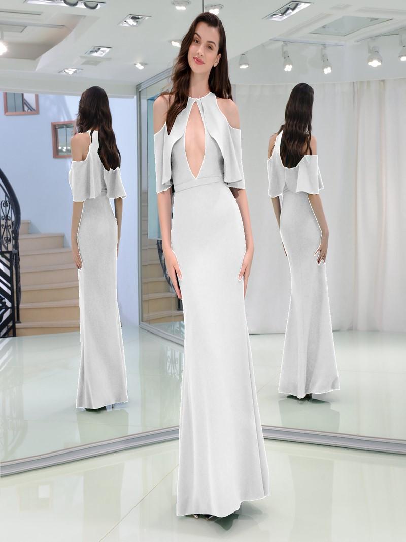 Ericdress A Line Half Sleeve Empire Long Prom Dress