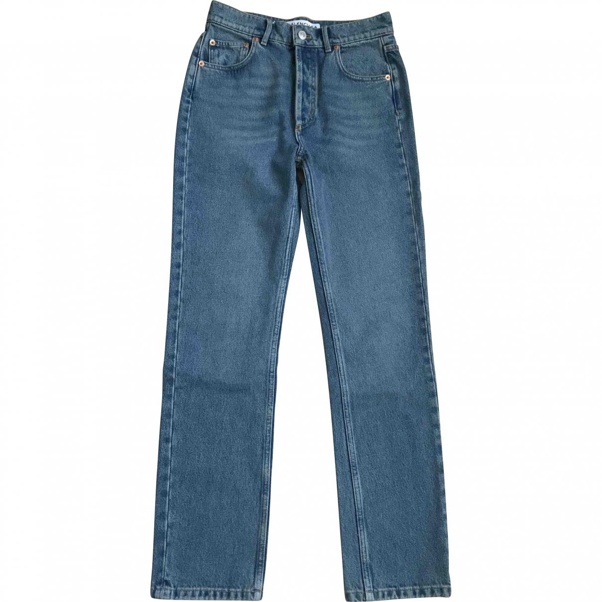 Balenciaga \N Blue Denim - Jeans Jeans for Women 34 FR