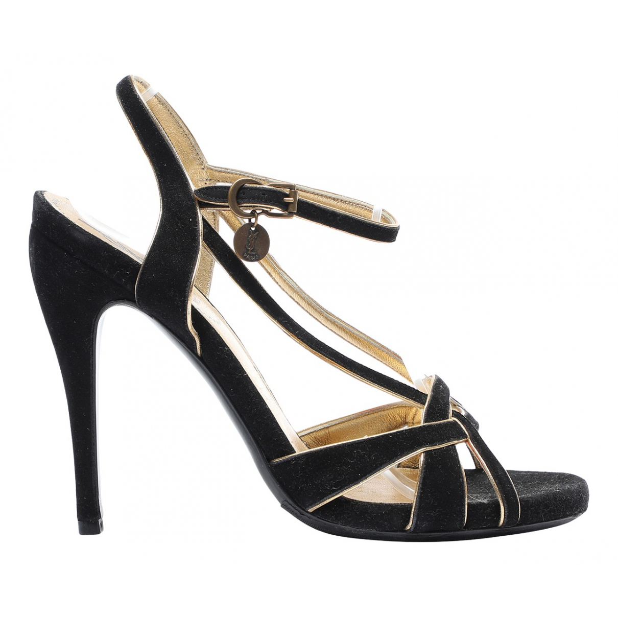 Yves Saint Laurent \N Black Suede Sandals for Women 37 EU
