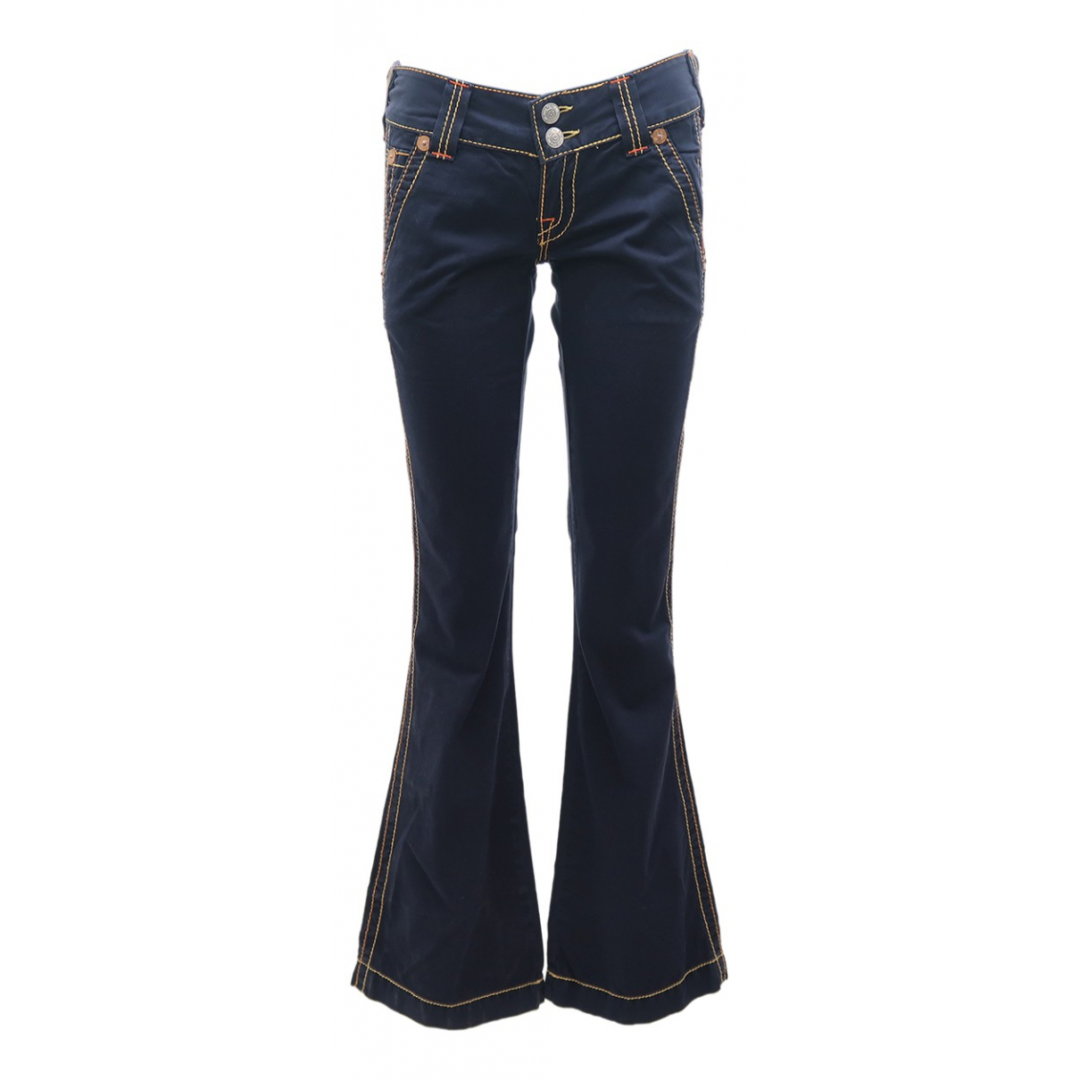 True Religion \N Navy Cotton Jeans for Women 24 US