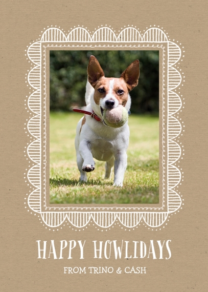 Pets 5x7 Cards, Standard Cardstock 85lb, Card & Stationery -Happy Howlidays