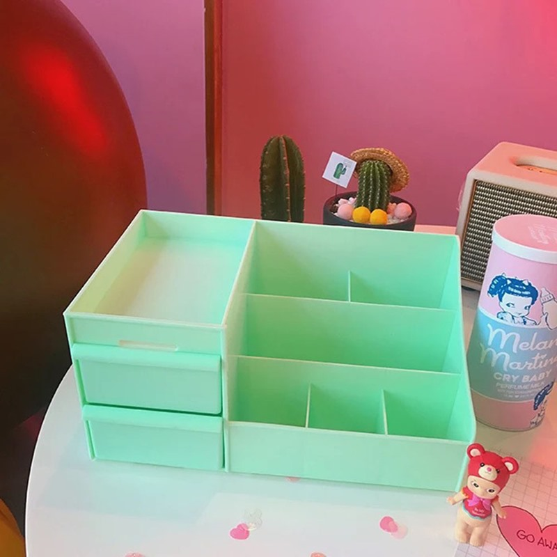 Ericdress Plain Plastic Cosmetic Storage Box Storage Boxes