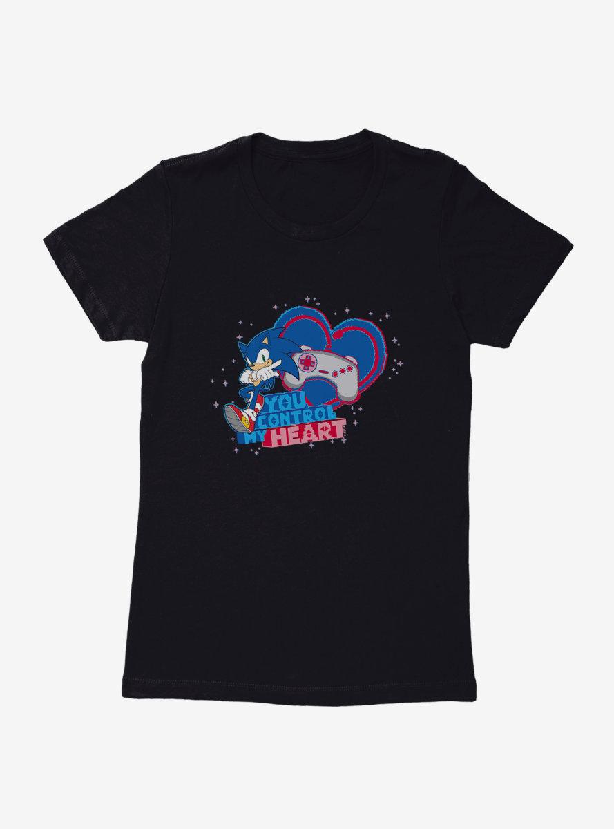 Sonic The Hedgehog Valentine Gaming Control Womens T-Shirt