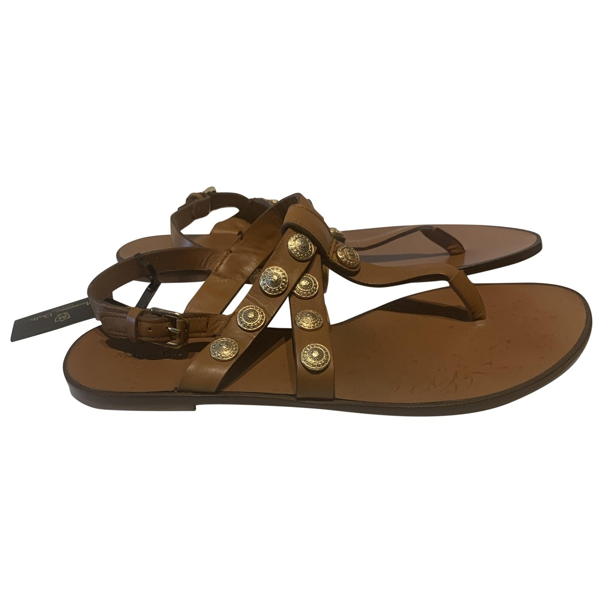 Massimo Dutti \N Brown Leather Sandals for Women 39 EU