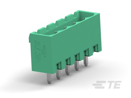 TE Connectivity 5mm Pitch, 14 Way PCB Terminal Block, Green (100)