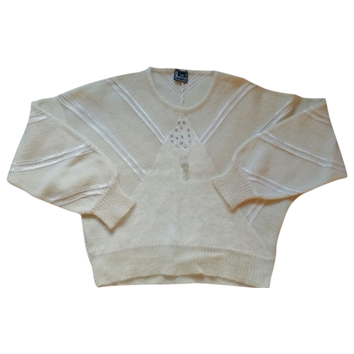 Non Signé / Unsigned \N White Wool Knitwear for Women 44 IT