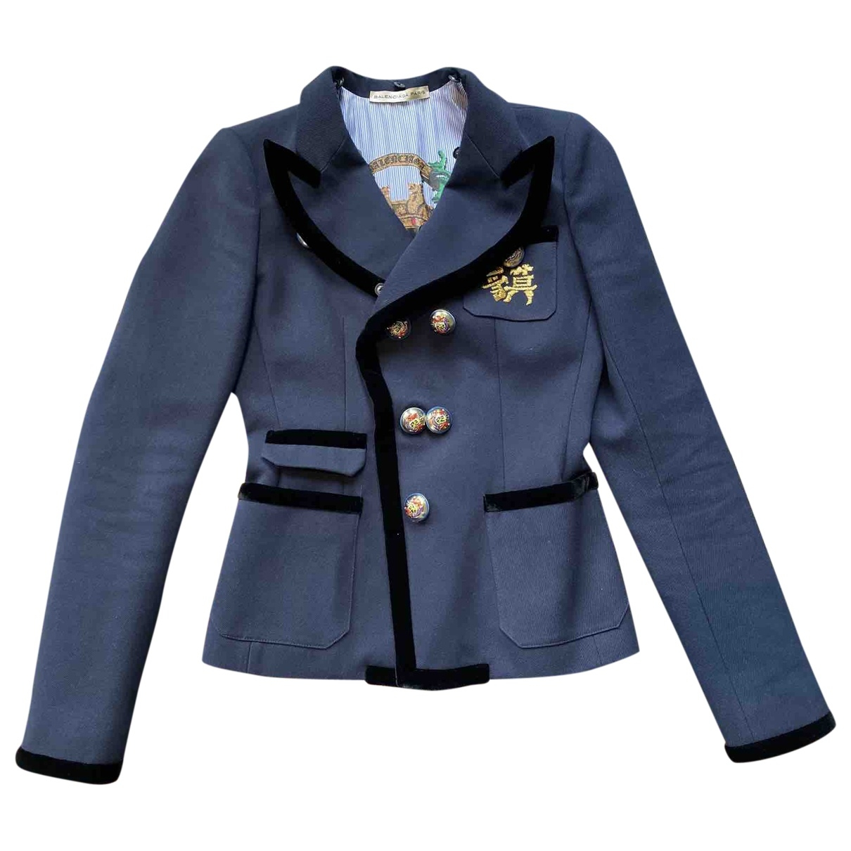 Balenciaga \N Navy Cotton jacket for Women 38 FR