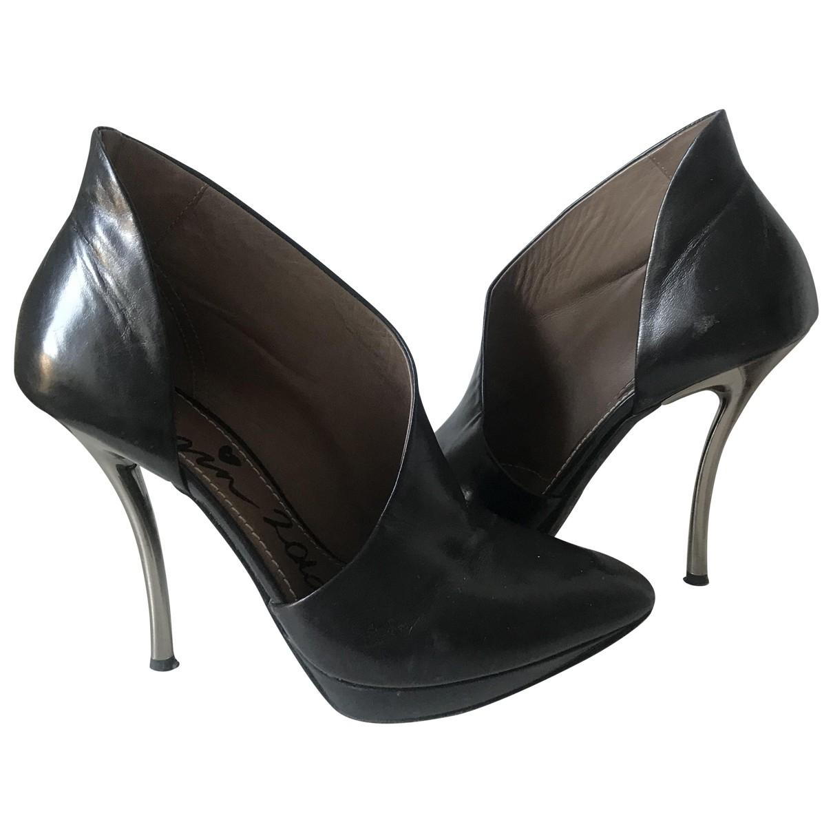 Lanvin \N Black Leather Heels for Women 36 EU