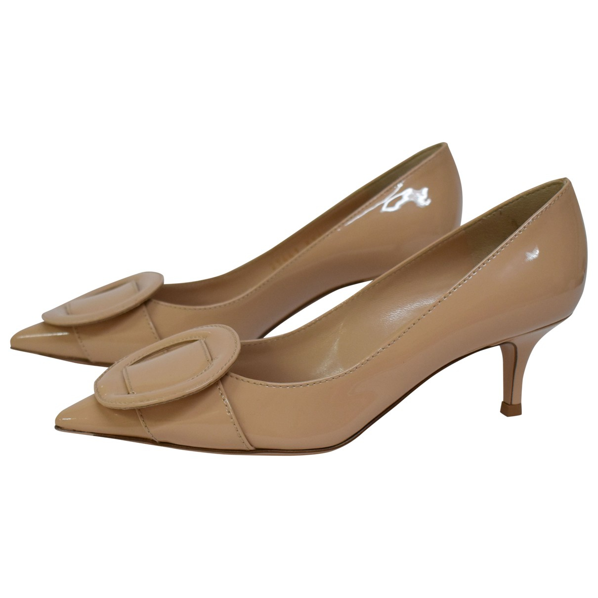 Gianvito Rossi \N Beige Patent leather Heels for Women 35 IT