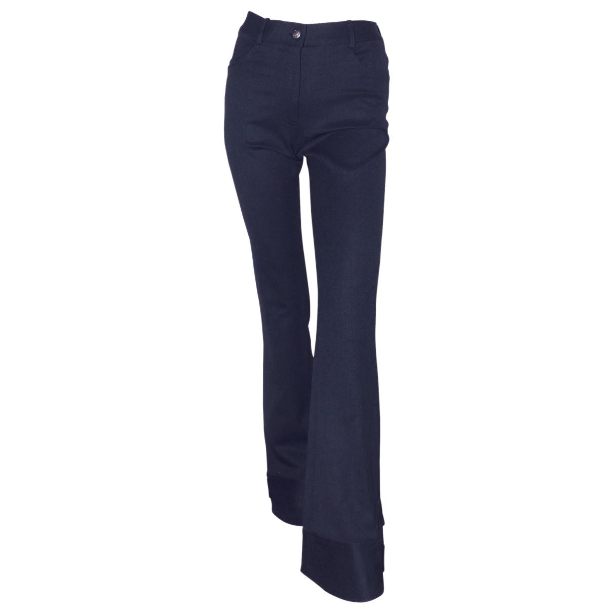 John Galliano \N Black Wool Trousers for Women 36 FR