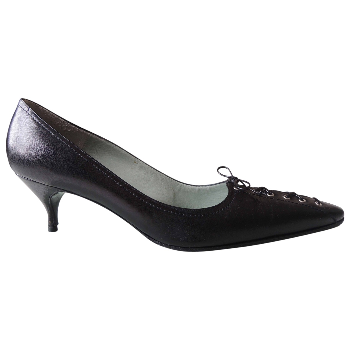Sigerson Morrison \N Black Leather Heels for Women 40.5 EU