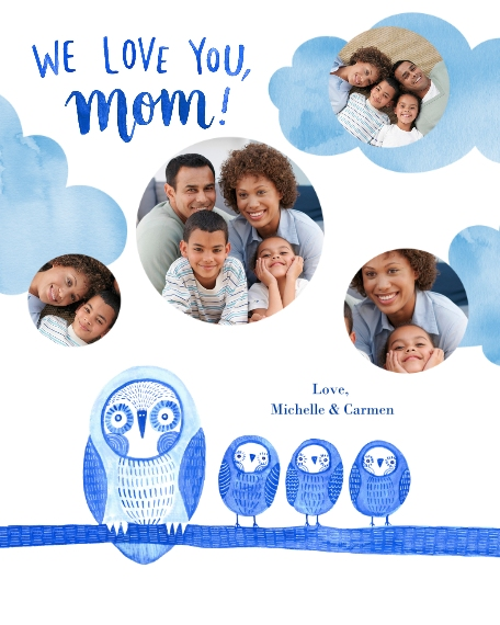 Family + Friends 16x20 Poster, Home Décor -Owl Little Family