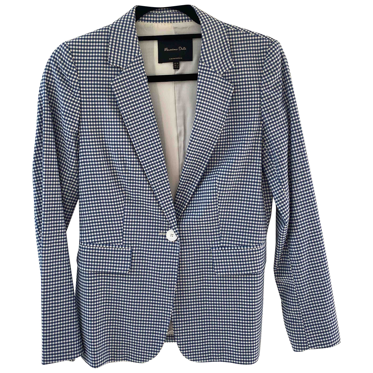 Massimo Dutti \N Blue Wool jacket for Women 8 UK