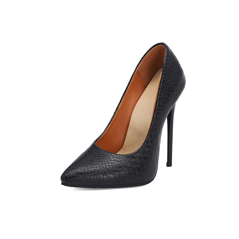 Ericdress Stiletto Heel Slip-On Serpentine Low-Cut Upper Thin Shoes