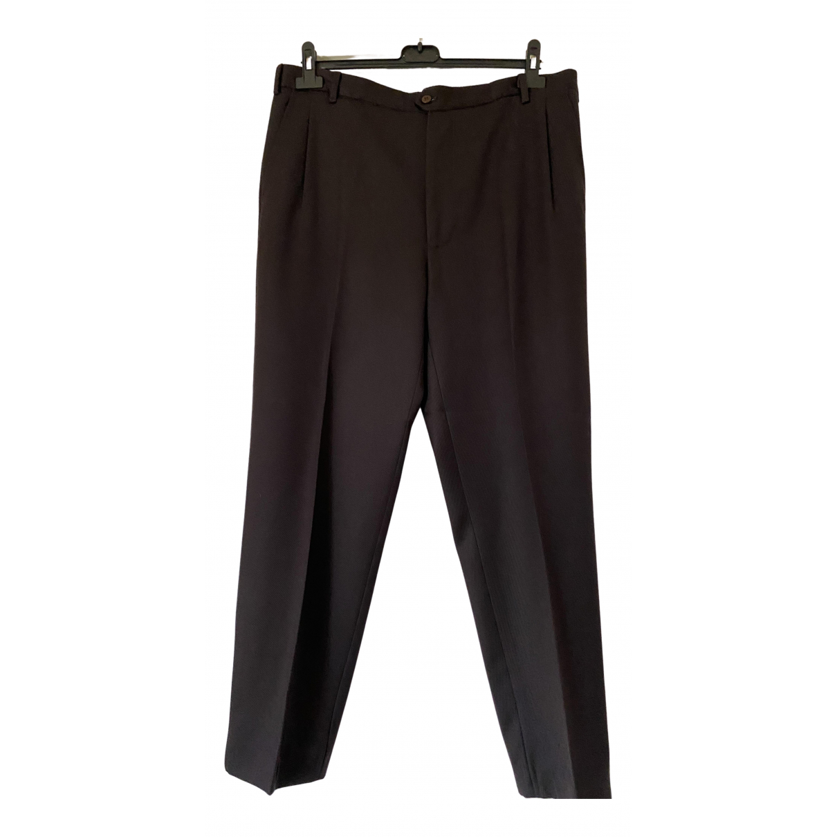 Burberry \N Brown Cotton Trousers for Men 50 IT