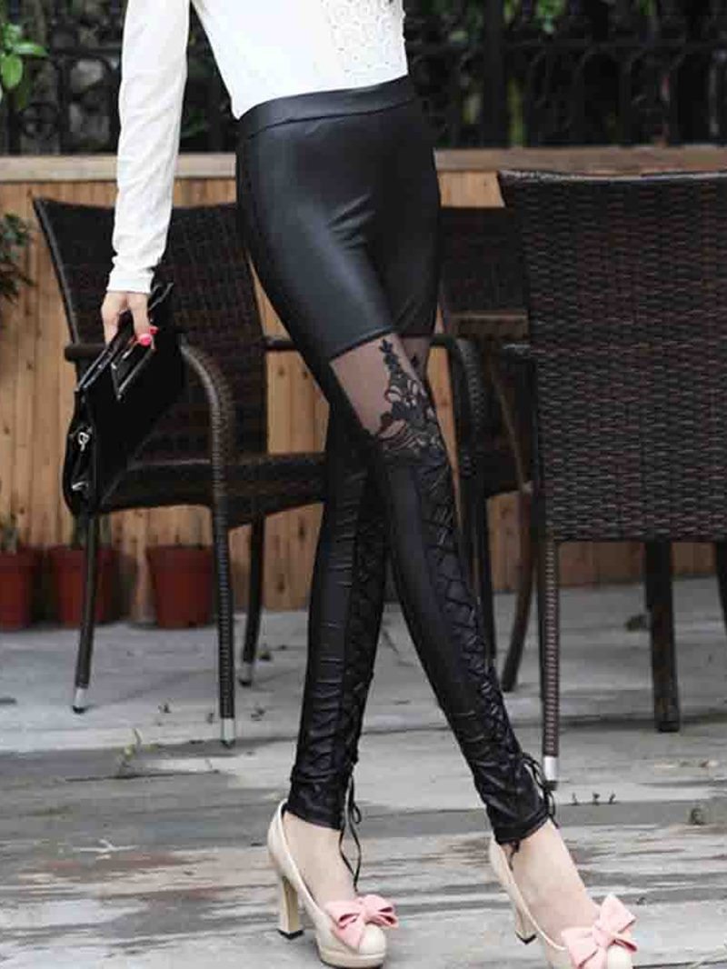 Ericdress Lace Plain Ankle Length Leggings