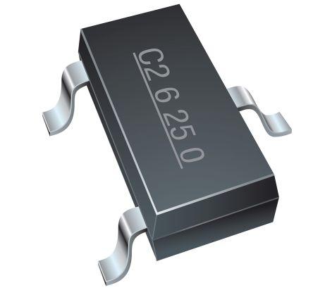 Bourns CDSOT23-T08LC-Q, Dual-Element Bi-Directional TVS Diode, 3-Pin SOT-23 (3000)