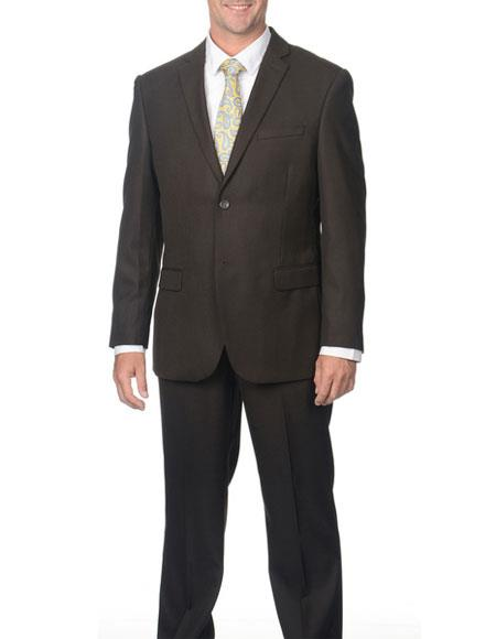Mens Single Breasted Classic Fit 2Button Shark Pattern NotchLapel Suit